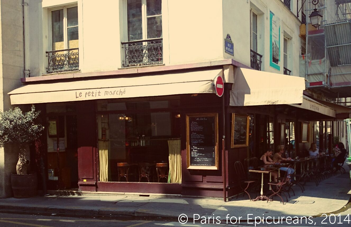 le petit march a great lil bistro marais style paris for epicureans. Black Bedroom Furniture Sets. Home Design Ideas